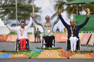 crédit photo : Luc Percival - Podium Médaille Bronze, Course en Ligne Cyclisme - H4 à Rio 2016